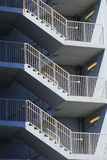 Zigzag stair. In a parking lot Royalty Free Stock Photo