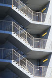 Zigzag stair in a parking lot Stock Image
