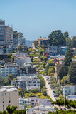 The zigzag street in San Francisco. A view of a characteristic street in San Francisco Royalty Free Stock Image