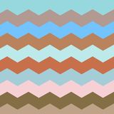Zigzag and stripe line. Retro pastel colors stock illustration