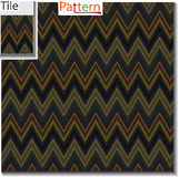 Zigzag and stripe line tile with sample pattern. Vector illustra Royalty Free Stock Photo