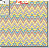Zigzag and stripe line tile with sample pattern. Vector illustration for tribal design with abstract colors. For vector illustration