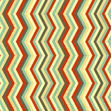Zigzag stripes in retro colours, seamless pattern Royalty Free Stock Photos