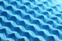 Zigzag texture. Paper zigzag texture in blue Royalty Free Stock Image