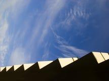 Zigzag van modern huis Stock Afbeeldingen