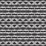 Horizontal zigzag Vector dot seamless design pattern. Stock Photography
