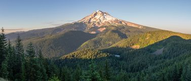 Zigzag View. Mt Hood with Burnt Lake as viewed from the Zigzag Trial, Mt Hood WIlderness Area, Oregon Royalty Free Stock Image