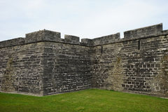 The zigzag wall of the Fort Castillo de San Marcos Stock Photos