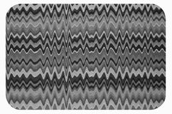 Zigzag and wave line pattern of mouse pad. Black and white zigzag and wave line pattern of mouse pad top view royalty free stock photos