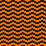 Zigzag waves. Sea Ocean water shape. Seamless Pattern Wrapping paper, textile template. Happy Halloween. Black orange background. Flat design. Vector Stock Image