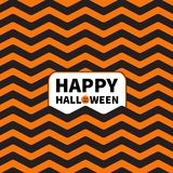 Zigzag waves. Sea Ocean water shape. Seamless Pattern Wrapping paper,. Textile template. Happy Halloween text Pumpkin smiling face. Black orange background Flat Royalty Free Stock Images