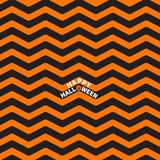 Zigzag waves. Sea Ocean water shape.. Seamless Pattern Wrapping paper, textile template. Happy Halloween text Pumpkin smiling face. Black orange background Stock Image