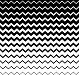 Zigzag, wavy irregular lines pattern. Horizontally repeatable. G vector illustration