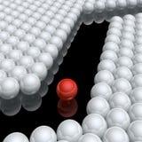 Zigzag way Stock Image