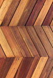Zigzag wooden wall background Royalty Free Stock Image