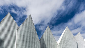Zigzagging roof of  The Szczecin Philharmonic Hall Royalty Free Stock Photography