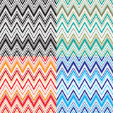 Zigzagpatroon geassorteerde kleuren Stock Afbeelding
