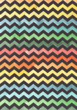 Zigzags on a colored background. Watercolor color background. Black zigzags on a colored background. royalty free illustration