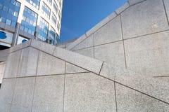 Zigzags granite stairways Stock Photos