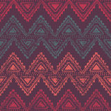 Zigzags - seamless ethnic background. Purple, turquoise, red color. Vector illustration Royalty Free Stock Photography