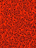 Zigzags - seamless pattern. Abstract seamless pattern on red background Royalty Free Stock Photos