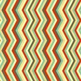 Zigzagstrepen in retro kleuren, naadloos patroon Royalty-vrije Stock Foto's