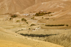 Zigzagweg - jilabiweg bij oude route van de Weg van Leh Srinagar, Ladakh, Jammu en Kashmir, India Royalty-vrije Stock Foto