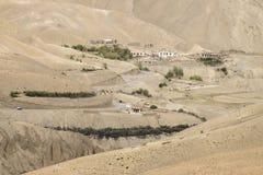 Zigzagweg - jilabiweg bij oude route van de Weg van Leh Srinagar, Ladakh, Jammu en Kashmir, India Stock Foto's