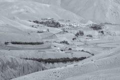 Zigzagweg - jilabiweg bij oude route van de Weg van Leh Srinagar, Ladakh, Jammu en Kashmir, India Stock Afbeelding