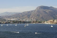Zihuatanejo resort town. The view of lovely Zihuatanejo resort town, Mexico Royalty Free Stock Photography