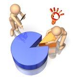 Zij analyseren de resultaten van de opiniepeiling. Royalty-vrije Stock Afbeelding