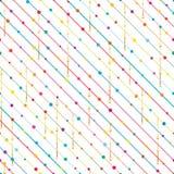 Zij de dalings naadloos patroon van de lijncirkel Royalty-vrije Stock Foto's