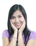 Zij glimlacht 9 royalty-vrije stock foto's