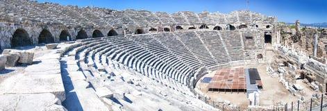 Zij panorama Amphitheatre Stock Foto's
