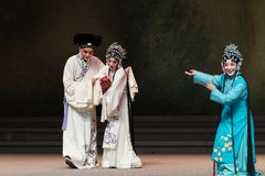 """Zij wenste hem met de geboorte van zijn zoon-Kunqu Opera""""Madame Witte Snake† geluk Stock Afbeelding"""