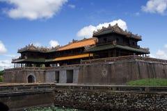 Zijaanzicht over Hue Imperial Palace in de Keizerstad, Tint, Centraal Vietnam Royalty-vrije Stock Afbeeldingen