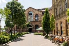 Zijaanzicht van Centrale Marktzaal van Boedapest Royalty-vrije Stock Afbeeldingen