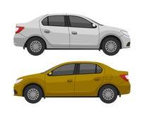 Zijaanzicht van de auto het moderne sedan vector illustratie