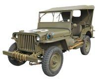 Zijaanzicht van de Jeep van WO.II het Amerikaanse Royalty-vrije Stock Fotografie