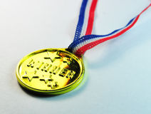 Zijaanzicht van de Medaille van de winnaar het Gouden Royalty-vrije Stock Afbeeldingen