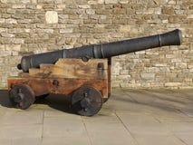 Zijaanzicht van een kanon Stock Fotografie