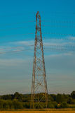 Zijaanzicht van elektriciteitspyloon Royalty-vrije Stock Foto's