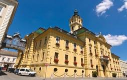 Zijaanzicht van het stadhuis royalty-vrije stock foto's