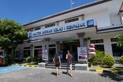 Zijaanzicht van Immigratiebureau van Denpasar in Bali, Indonesië stock foto's