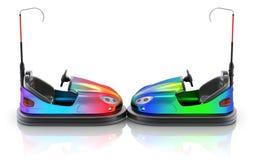 Zijaanzicht van kleurrijke elektrische bumperauto Royalty-vrije Stock Foto