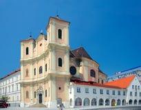 Zijaanzicht van Trinitarian Kerk (1717), Bratislava, Slowakije Royalty-vrije Stock Fotografie