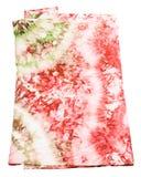 Zijdesjaal met abstract roze en groen patroon Stock Fotografie