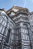 Zijdi Santa Maria del Fiore, Florence, Italië 3 van voorgevelcattedrale stock afbeelding