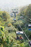 Zijing Mountain Cableway Royalty Free Stock Images