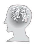 Zijn daar wat vraagt in een hoofd? Stock Foto